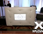 Tufted Booth with in-laid TV