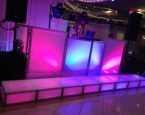 LED staging set in front of the LED DJ booth