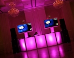 Prom Setup at Addison Park with Twin Framed TVs and HUGE sound system