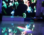 HD Video wall with holographic dance floor