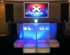 Single Monitor with LED staging and booth