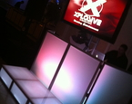 Single Screen setup with Xplosive LED Lit Facade and staging
