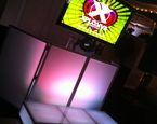Single monitor with LED Booth and Staging