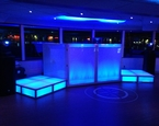 Split stage setup aboard the Horn Blower Infiniti Cruise Ship