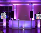 Beautiful setup at Knob Hill Country Club with uplighting, twin 60