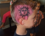 air brush hair tattoo