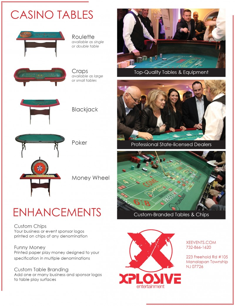 Casino Table Tear Sheet_Xplosive